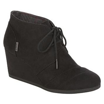 Bongo- -Women's Bongo Josie Ankle Taupe Faux Suede Ankle Boots-Shoes-Womens Shoes-Womens Boots