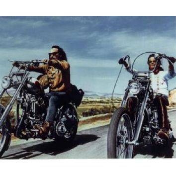 Easy Rider Movie poster Metal Sign Wall Art 8in x 12in