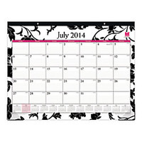 Blue Sky Academic Monthly Desk Pad Recylced Calendar 22 x 17 Barcelona July 2014 June 2015 by Office Depot