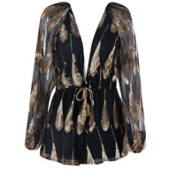 Soho Black and Gold Romper Playsuit