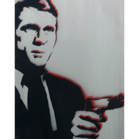 STEVE McQUEEN 12x16 Graffiti and Pop Art Inspired Portrait on Wood