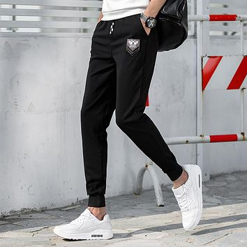 Men's Srping&Autumn Casual Sporting Men Pants 2017 Plus Size Trousers Fear Of God Drawstring Outwear Harem Cargo Pants