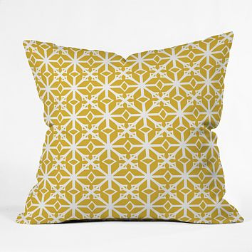 Heather Dutton Diamante Gold Throw Pillow