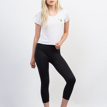Basic Crop Active Leggings