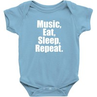 Music Eat Sleep Repeat Baby Onesuit