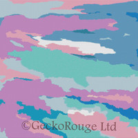 Cross Stitch Kit - Painted Sky  - Licensed artwork by Rosie Brown made by GeckoRouge - Abstract