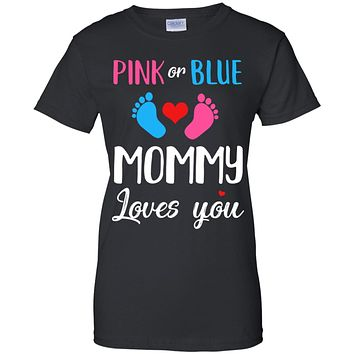 Pink Or Blue Mommy Loves You Funny Gender Reveal Party Gift