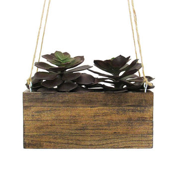 Hanging Planter, Succulent Planter, Mini Planter, Wood Planter, Indoor Planter, Modern Planter, Unique Planter, Small Planter, Rustic