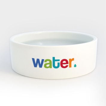 Dog Water Bowl - Heavy Ceramic Dog Cat Pet Bowls with Colorful Letters
