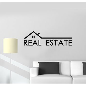Vinyl Wall Decal Real Estate Agency Realtor Property Agent House Stickers Mural (g725)