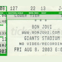 Concert or Sports Ticket Stub Floormat. Personalized with your Ticket Stub.