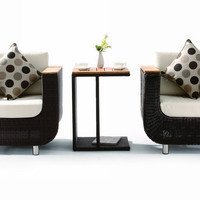 H01V1 Patio 2 Armchairs with Side Table