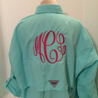 Monogrammed Columbia PFG Shirt - Long Sleeve- Monogrammed Fishing Shirt