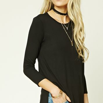 Vented Stretch-Knit Top