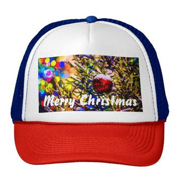 Christmas Ball Red Trucker Hat
