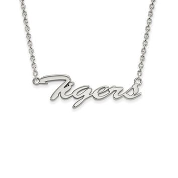 NCAA Sterling Silver Louisiana State Med Pendant Necklace