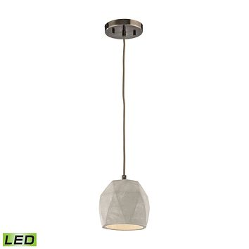 Urban Form 1 Light LED Pendant in Black Nickel