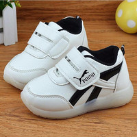 non slip kids LED luinous shoes boys girls toddlers shoes baby LED shoes fashion children casual flat shoes without USB