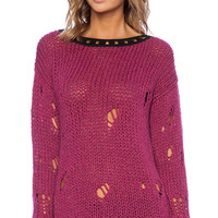 Love Moschino Printed Sweater in Pink