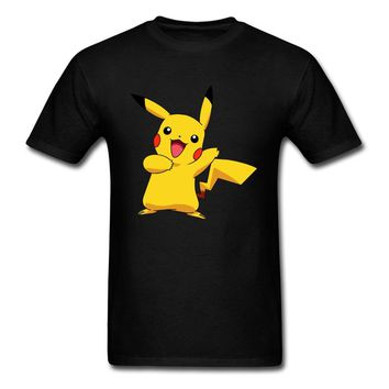 Pikachu  2018 New Black T Shirt Custom For Men Japan Anime Tops 80s Graphic Tee Shirts Funny Mens Clothing HarajukuKawaii Pokemon go  AT_89_9