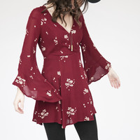 Free People Jasmine Dress Marsala OB456149S