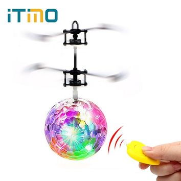 iTimo Flying Ball Luminous Lighting Mini Helicopter LED Light Lamp Novelty Lighting Remote Control Electronic Infrared Induction