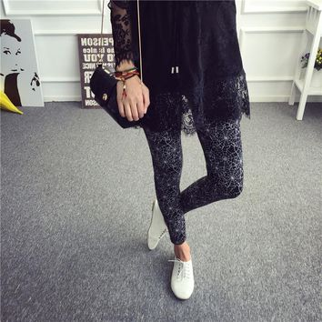 New Fashion Elastic Stretch Leggings for Female Colored Multi Graffiti Slim Fit Skinny Personalized Fitness Leggings Women
