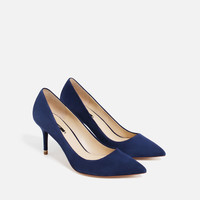 LEATHER MID HEEL SHOES - View all-SHOES-WOMAN | ZARA United Kingdom