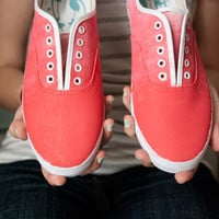 Coral Ombre Fade Sneakers