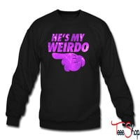 He's My WeirdoD crewneck sweatshirt