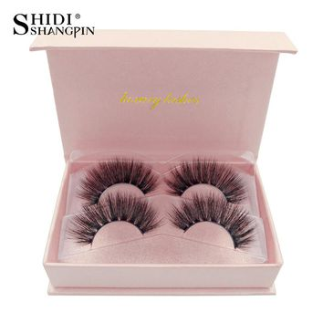 SHIDISHANGPIN natural long false eyelashes full strip lashes makeup 3d mink lashes volume fake eye lashes soft mink eyelashes