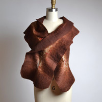 Felted Scarf - Nuno Felted Scarf - Merino Wool Felted Scarf - Merino Wool Silk Scarf - Spring Scarf - Mother's Day Gift