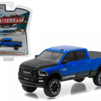 "2017 Dodge Ram 2500 MOPAR Edition Blue Pickup Truck ""All Terrain"" Series 4 1-64 Diecast Model Car by Greenlight"