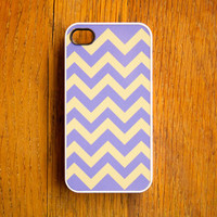 Chevron iPhone 4 Case New iPhone 4 & iPhone 4s Pattern Print Purple Yellow Mother's Day For Mom Gift