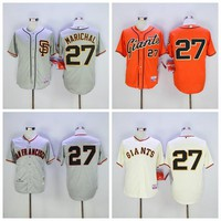 San Francisco SF Giants 27 Juan Marichal Jersey Flexbase Juan Marichal Baseball Jerseys 1989 Retro Cool Base White Grey Orange Cream Black