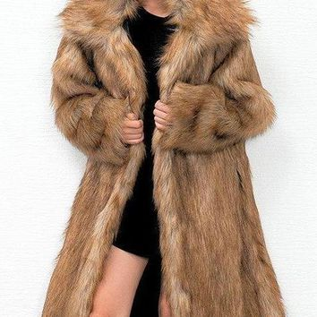 Amina Faux Fur Coat