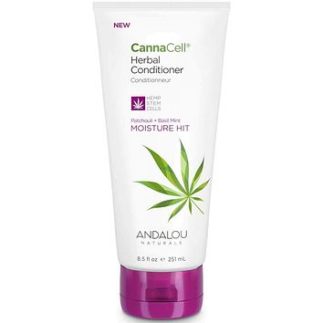 Andalou Naturals Conditioner, Moisture Hit, Cannacell - 8.5 Fz