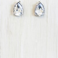 TIny Teardrop Crystal Earring