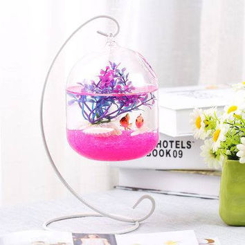 Mini hanging aquarium bowl