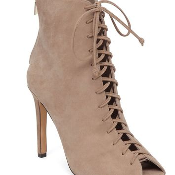 Vince Camuto Kelby Lace Up Peep Toe Booties | Dillards