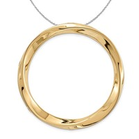 Gold-Tone Sterling Silver Stackable Large Twisted Slide, 29mm Necklace