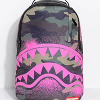 Sprayground Pink Stencil Shark Camo Backpack