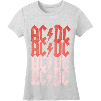 AC/DC  Fade Junior Top Grey