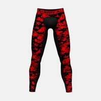Digital Camo Red Beast Compression Tights / Leggings