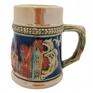 Collectible Beer Stein: German Village Shot Glass