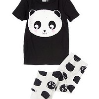 Panda Two-Piece Pajama Set