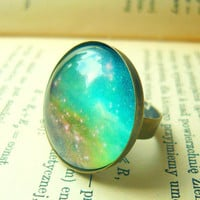 Retro Space, Galaxy Ring - Free Shipping - Made to order :)