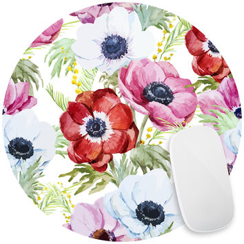 Plentiful Poppies Mouse Pad Decal