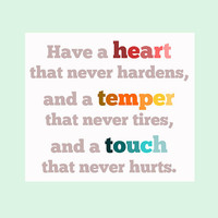Charles Dickens Print Have a heart that never by LitPrints