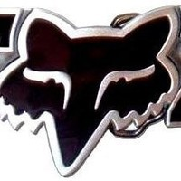 FOX Black Head Motocross Racing Belt Buckle gift biker diamond head dirt bike